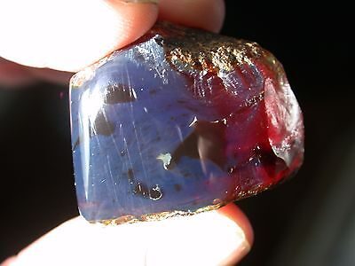 Beautiful Sky BLUE AMBER Gemstone TOP Quality RARE 48 Carats