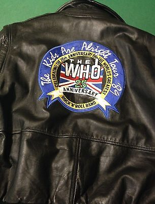 Who 25th Anniversary Kids Are Alright 1989 Tour Leather Jacket
