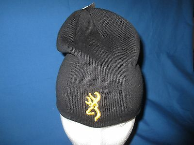 Browning Beanie/Cap - Black with Gold Buck