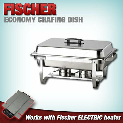 1  X  New Chafing Dish / Chafer, Stackable Stainless Buffet Bain Marie Food Warm