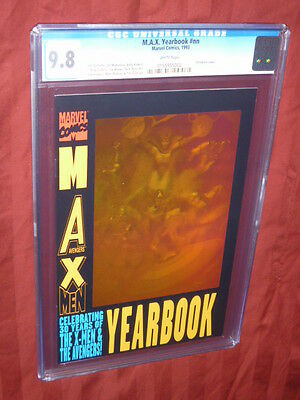 M.A.X. Yearbook CGC 9.8 Hologram Cover     Marvel, Avengers, X-Men
