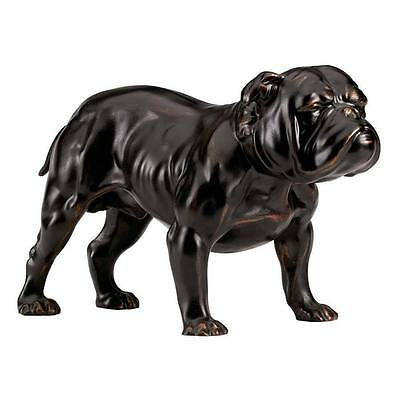 Bronze English Bulldog Statue Desktop Man's Best Friend Dog Gift