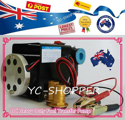 12V 70L/min Diesel Oil Fuel Transfer Pump - Heavy Duty & Large Flow