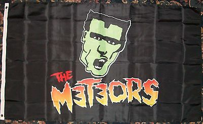 The Meteors Psychobilly Rockabilly 3 X 5Ft Flag
