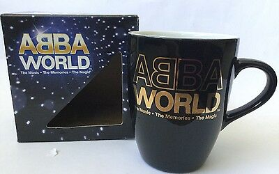 ABBA World Mug Boxed Never Used Official Merchandise Music Exhibition Souvenir