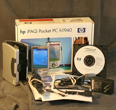 HP iPAQ Pocket PC h1940 Complete Set w/ Case, Very Good Condition, Tested PE2060