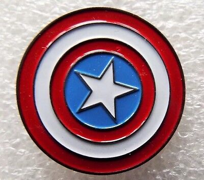 Captain America enamel pin / lapel badge Marvel REDUCED TO CLEAR - LIMITED STOCK