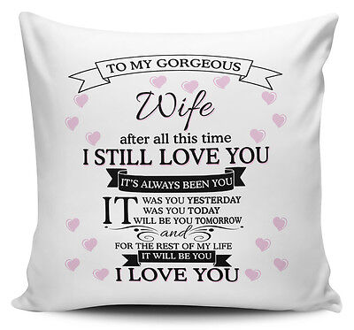To My Gorgeous WIFE Novelty Cushion Cover