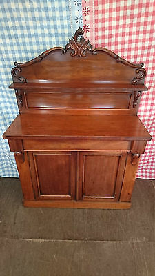 Antique Victorian Mahogany Chiffonier Sideboard Cocktail Cabinet