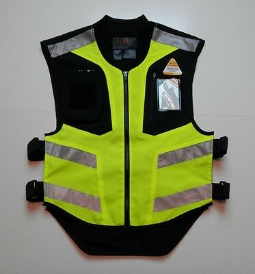 5.11 Military Safety Riding Vest Zip Up Packable Mens Size Regular Reflective