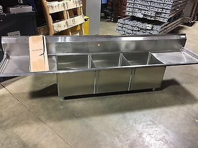 Three Bowl Stainless Steel Commercial Sink/Restaurant Equipment...