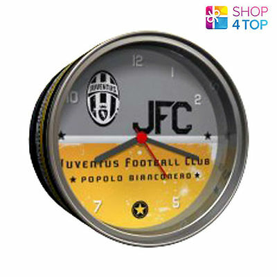Juventus Fc Table Alarm Clock In Tin Watch Official Football Soccer Club Team