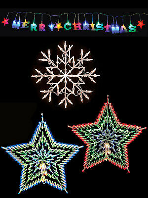 Christmas Snowflake Star Window  Merry Christmas Decoration Indoor Light Up