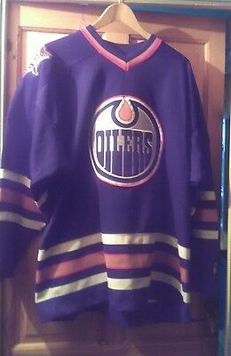 Edmonton oilers authentic long sleeve ice hockey jersey size XL made by starter
