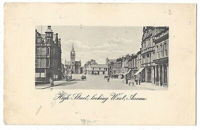 ANNAN High Street Looking West, Reliable Series Postcard Postally Used 1916