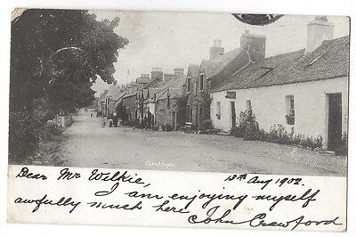 STRATHYRE View in the Village, Early Postcard with Undivided Back, Posted 1902