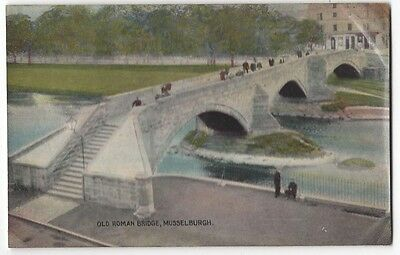 MUSSELBURGH Old Roman Bridge, Old Postcard by Art Pub. Co, Unused