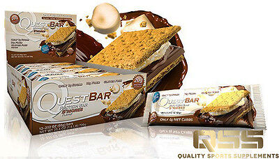 QUEST BARS SMORES NATURAL PROTEIN 12X60g HIGH PROTEIN & FIBER GLUTEN FREE S'MORE