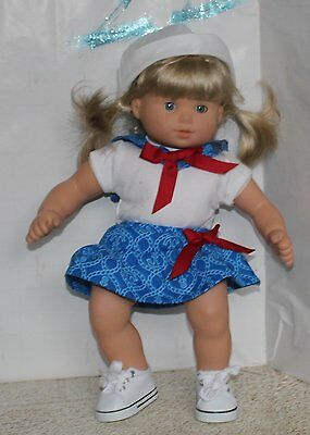 Little Sister Sailor outfit costume for American Girl Bitty Baby