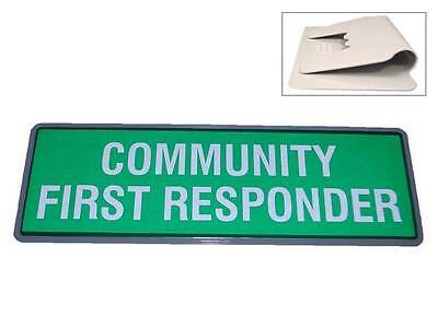 COMMUNITY FIRST RESPONDER Reflective Univisor (Sun Visor) for Ambulance 999 EMT