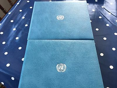 UNO United Nations 2 FDC cover albums with  100 + FDC's wonderful books
