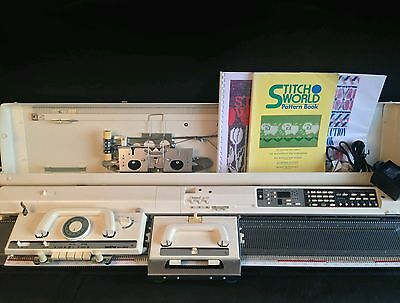 Brother electroknit knitting machine kh 965 electronic strickmaschine