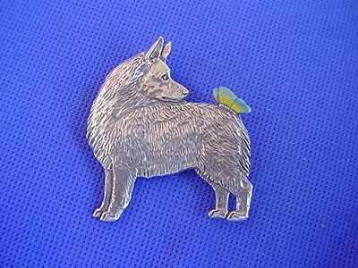 Schipperke and BUTTERFLY Pin #64B pewter dog jewelry by Cindy A. Conter CAC