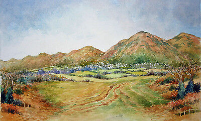Malvern Hills.Worcestershire.Original Watercolour