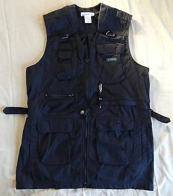 Columbia Men L Sportswear Black Fly Vest Fishing Hunting Shooting Tactical Long