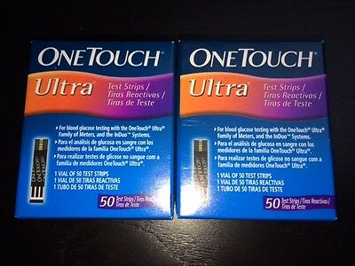 100 One Touch Ultra Blood Test Strips (Free P&P)