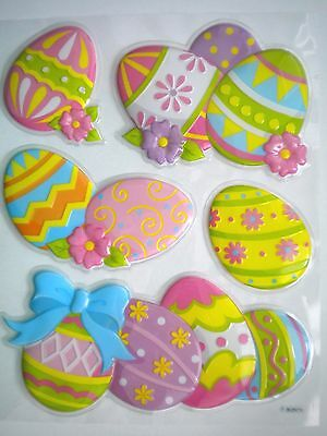 Pkg. Of 5 Easter/spring 3D Pop-Up Self-Adhesive Stickers Window Decor
