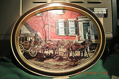 Old Phoenix National Bank  Vintage Metal Serving Tray  Near Perfect