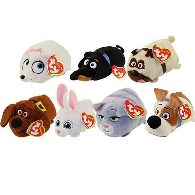TY Beanies Teeny Tys Plush Soft Toys - Set of 7 Secret Life of Pets - 1 of Each