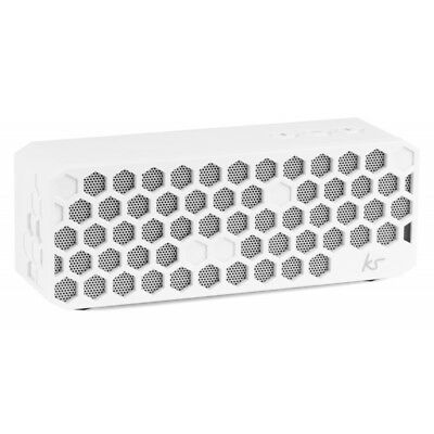 KitSound Hive Bluetooth Wireless Portable Stereo Speaker White