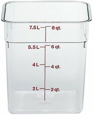 Cambro Camsquare Polycarbonate Round Food Container Clear 8 qt.