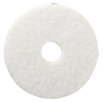 "3M Floor Polishing Pad White 20"" dia x 1"" Non-Woven PES Fiber 