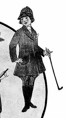 """1919 Riding Outfit Sewing Pattern Fits 18"""" American Girl Doll # 63"""