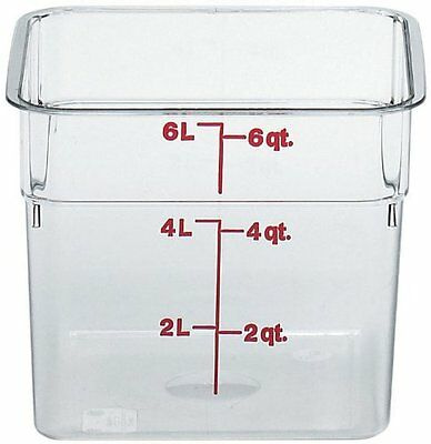 Cambro Camsquare Polycarbonate Round Food Container Clear 6 qt.