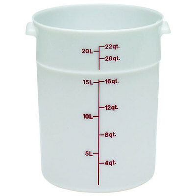 Cambro Plastic Storage Round Food Container White 22 qt. | 1/Pack