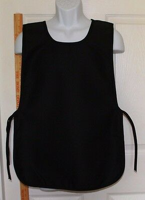 Cobbler /Smock Style Apron BLACK Made In USA