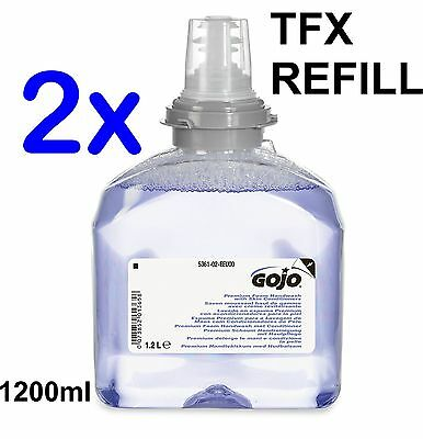 2x GOJO 1200ml Purple - 5361-02-EEU00 TFX Premium Foam Handwash Dispenser Refill