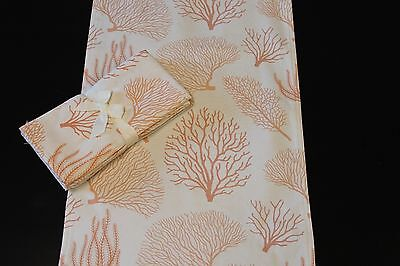 Coraline Coral Table Runner & Napkin Set