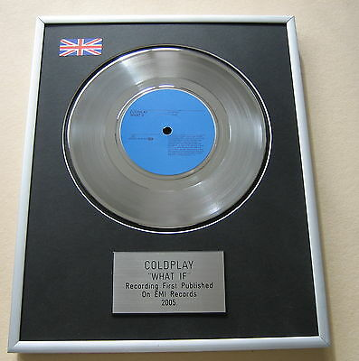COLDPLAY What If PLATINUM SINGLE DISC PRESENTATION