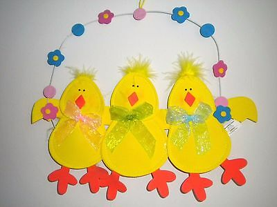 """three Cute Chicks"" Easter/spring Wall Decoration"