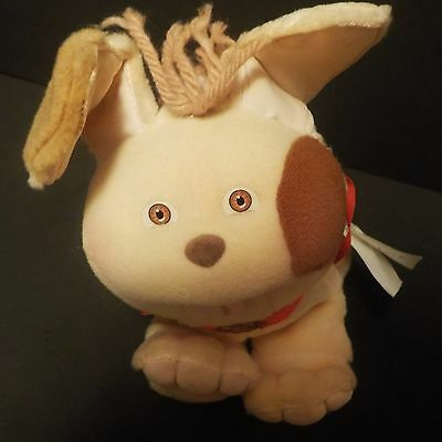 """Cabbage Patch Kids CPK PUPPY Dog with Collar leash 6"""" 1986"""