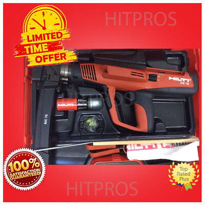 Hilti Dx 76 Powder Actuated Tool, New, Free Nails, Grinder, Extras, Fast Ship