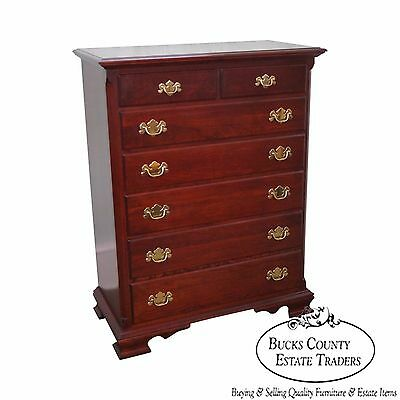 Colonial Furniture Co. Solid Cherry Chippendale Style Tall Chest
