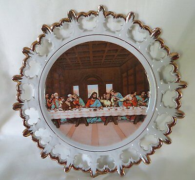 Napco The Last Supper Plate  Hand Painted China