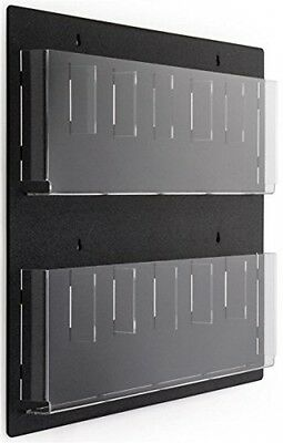 Displays2go Wall Mounted Literature Rack, 12 Pockets For 4x9  Pamphlets,