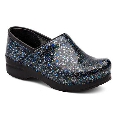Dansko PROFESSIONAL Womens Overspray Patent Leather Slip On Clog Shoes